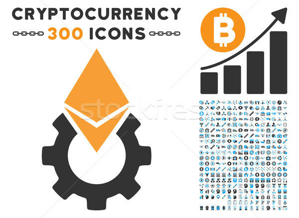 Ethereum Tools Gear Flat Icon with Stock photo © ahasoft