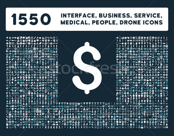 Interface, Business, Tools, People, Medical, Awards Vector Icons Stock photo © ahasoft