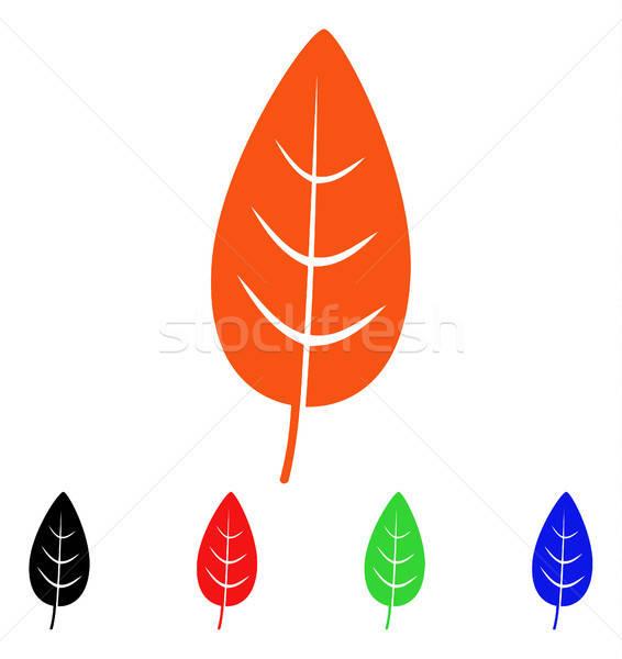 Flora hoja vector icono estilo icónico Foto stock © ahasoft
