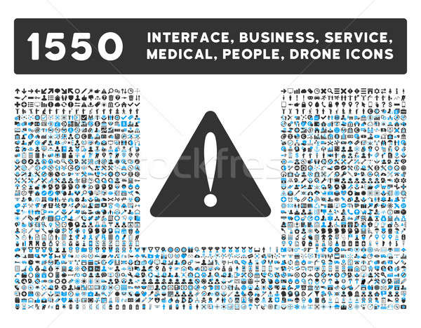 Warning Error Icon and More Interface, Business, Tools, People, Medical, Awards Flat Glyph Icons Stock photo © ahasoft