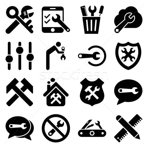 Stok fotoğraf: Seçenekleri · hizmet · araçları · vektör · stil