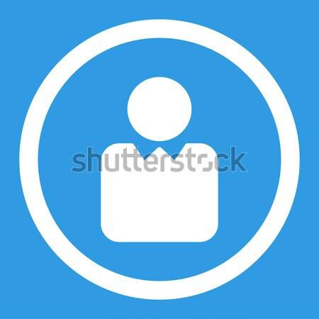 Cliente icono cuadrados botón blanco gris Foto stock © ahasoft