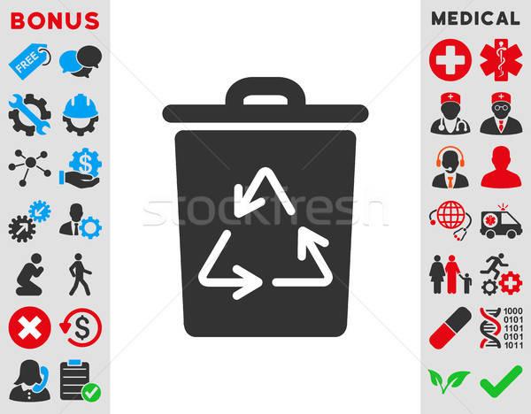 Trash Can Icon Stock photo © ahasoft
