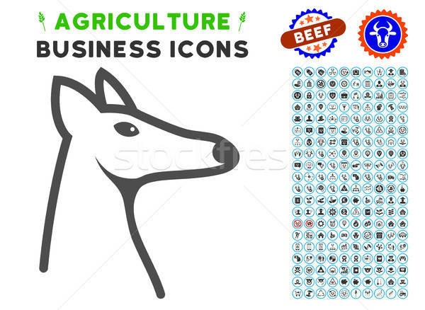 Fox Head Icon with Agriculture Set Stock photo © ahasoft