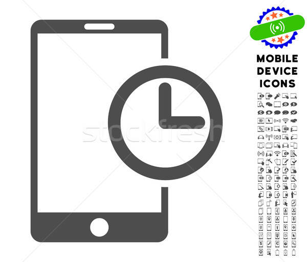 Smartphone Time Icon with Set Stock photo © ahasoft