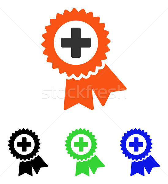 Medical Quality Seal Flat Vector Icon Stock photo © ahasoft