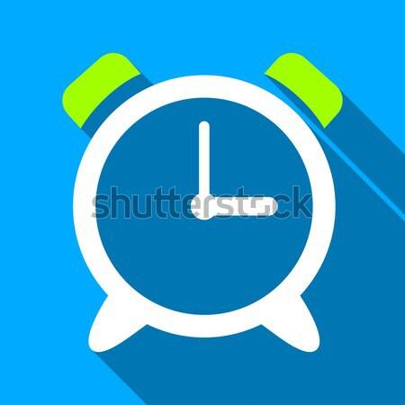 Alarm Clock Flat Icon Stock photo © ahasoft