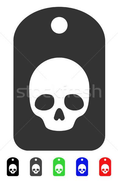 頭蓋骨 ラベル アイコン 色 黒 ストックフォト © ahasoft