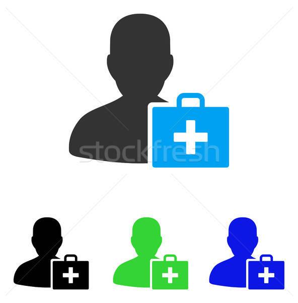 Paramedicus icon vector stijl grafische symbool Stockfoto © ahasoft