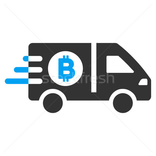 Fast Bitcoin Delivery Car Flat Icon Stock photo © ahasoft