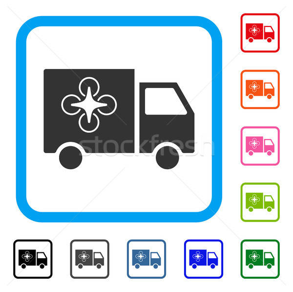 Drone Delivery Van Framed Icon Stock photo © ahasoft