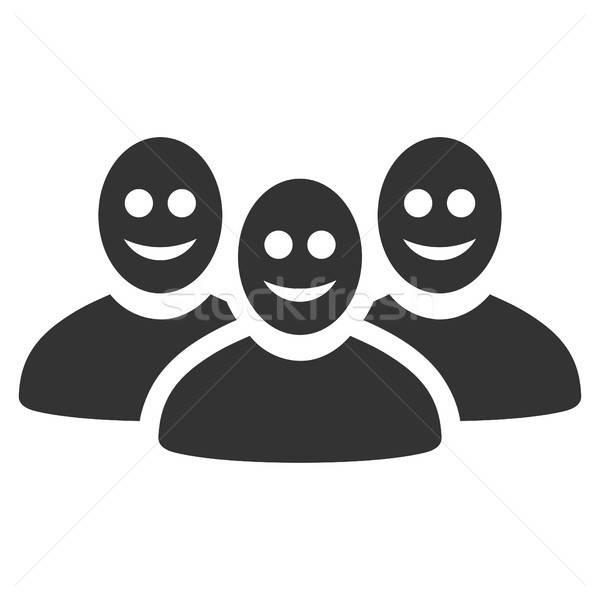 Mutlu insanlar grup ikon vektör stil grafik Stok fotoğraf © ahasoft