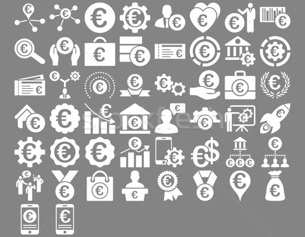 Euro Business Icons Stock photo © ahasoft