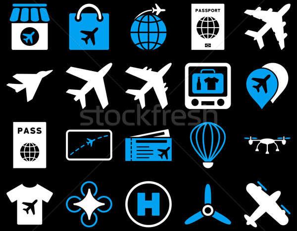 Airport Icon Set Stock photo © ahasoft