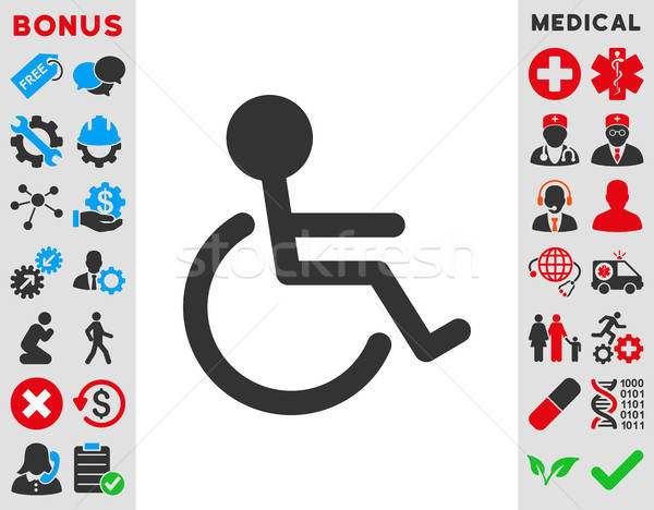 Handicapped Icon Stock photo © ahasoft