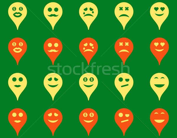 Stock photo: Emotion map marker icons