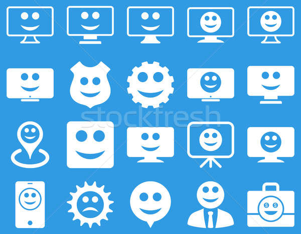 Tools, gears, smiles, dilspays icons. Stock photo © ahasoft