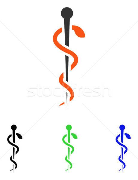Orvosi tű vektor ikon illusztráció stílus Stock fotó © ahasoft