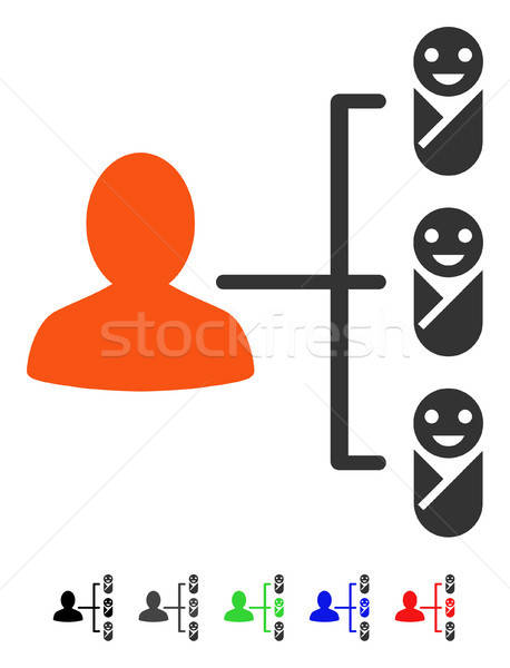 Children Links Flat Icon Stock photo © ahasoft