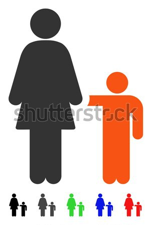 Mother With Son Flat Icon Stock photo © ahasoft