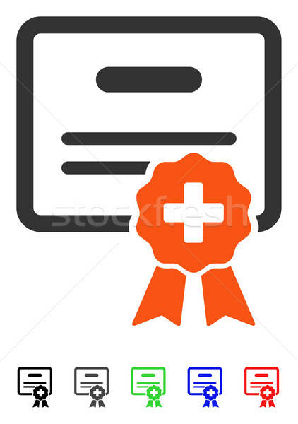 Medical Certification Flat Icon Stock photo © ahasoft