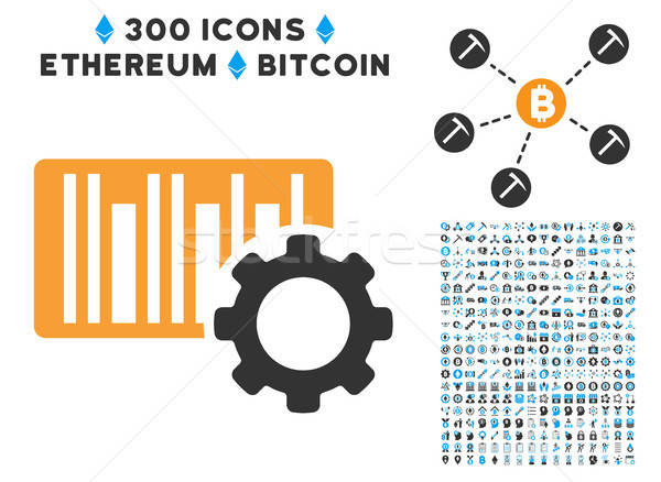 Streepjescode icon bitcoin smart Stockfoto © ahasoft