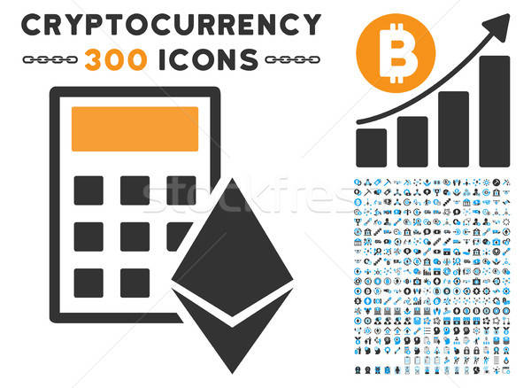 Ethereum Calculator Flat Icon with Stock photo © ahasoft