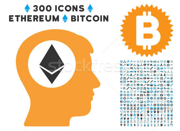 Ethereum Mind Flat Icon with Stock photo © ahasoft