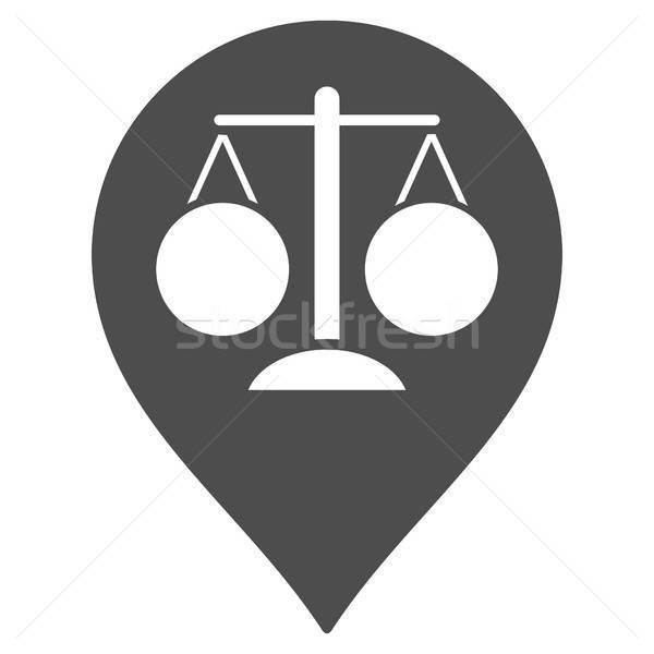 Court Map Marker Flat Icon Stock photo © ahasoft