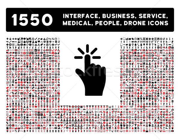 Klikken icon meer interface business tools Stockfoto © ahasoft