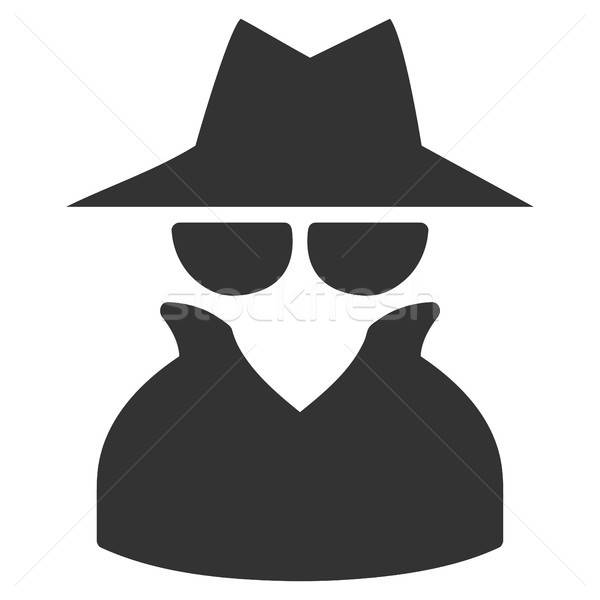 Spy Flat Icon Stock photo © ahasoft
