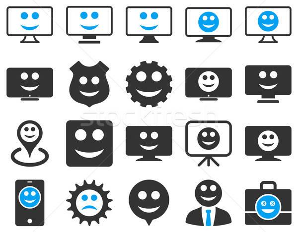 Outils engins sourires icônes vecteur Photo stock © ahasoft