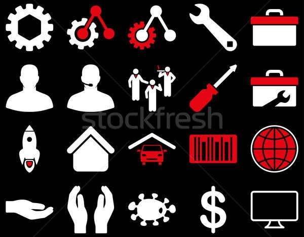 Narzędzia ikona stylu zdjęcia Zdjęcia stock © ahasoft