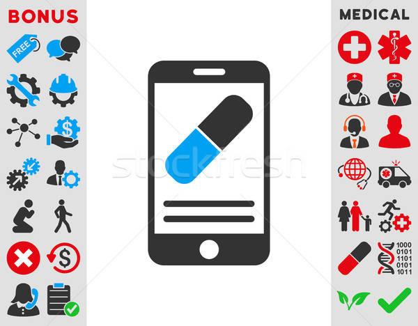 Medication Online Information Icon Stock photo © ahasoft