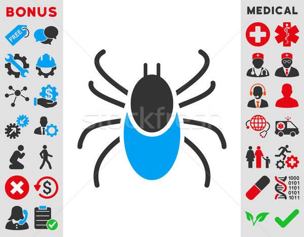 Ikon vektor stílus szimbólum kék szürke Stock fotó © ahasoft