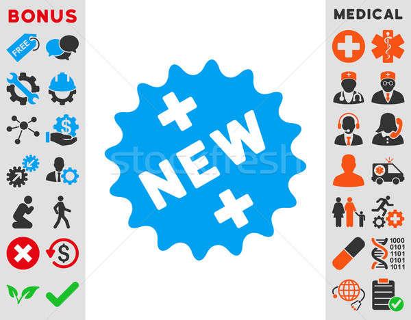 New Medical Sticker Icon Stock photo © ahasoft