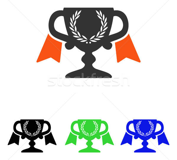 Award Cup Flat Vector Icon Stock photo © ahasoft