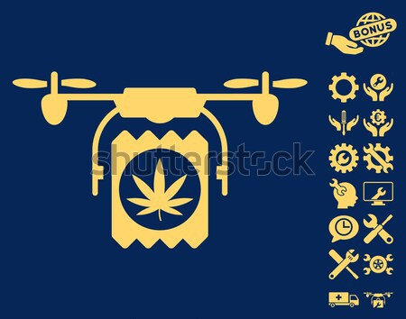 Drugs Drone Shipment Flat Vector Icon Stock photo © ahasoft