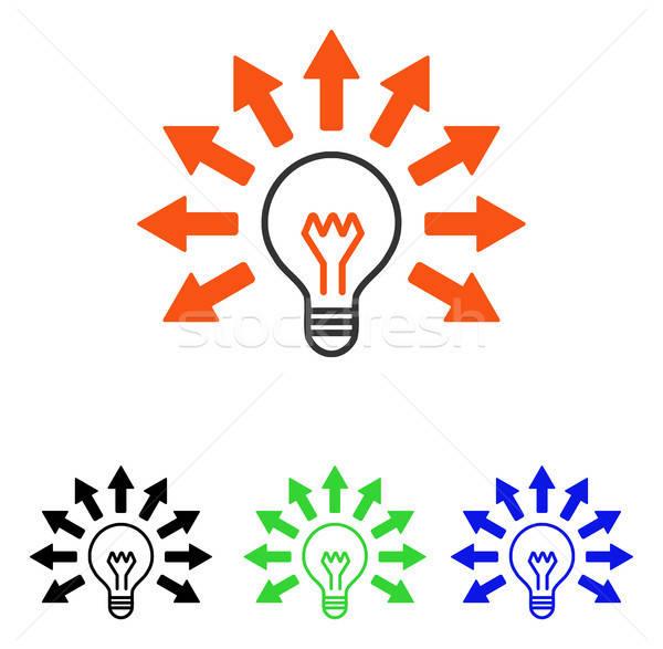 Electric Light Flat Vector Icon Stock photo © ahasoft