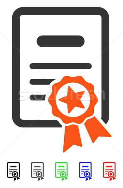 Certificato diploma icona vettore pittogramma colorato Foto d'archivio © ahasoft