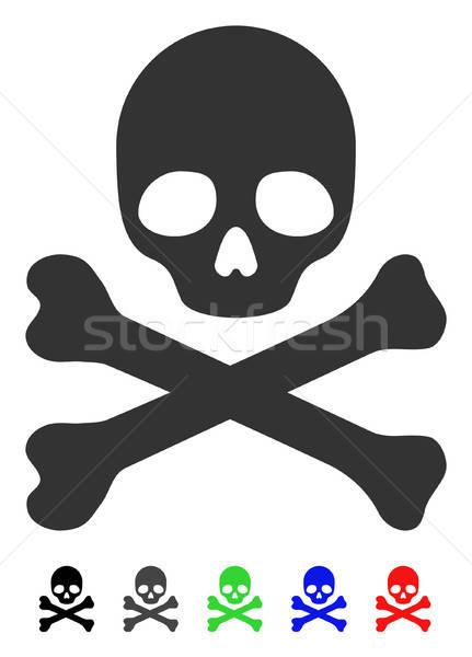 Morte ícone cor preto cinza Foto stock © ahasoft