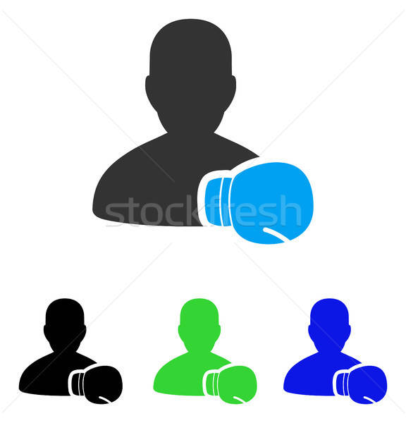 Boxe ícone vetor pictograma estilo Foto stock © ahasoft