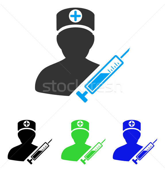 Medic Flat Icon Stock photo © ahasoft