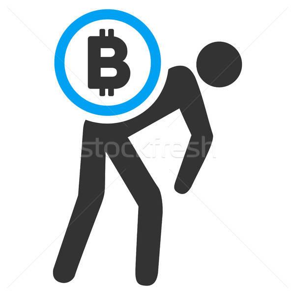 Bitcoin kurye kişi ikon vektör uygulama Stok fotoğraf © ahasoft