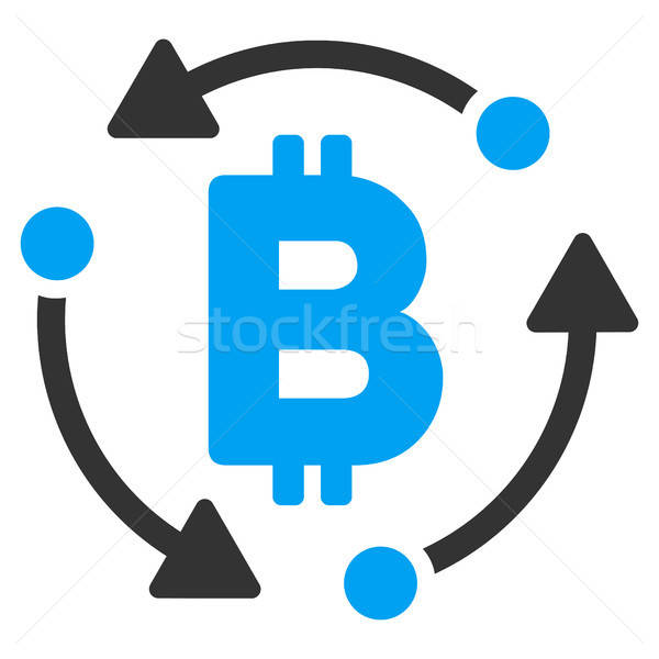 Bitcoin omwenteling icon vector pictogram toepassing Stockfoto © ahasoft