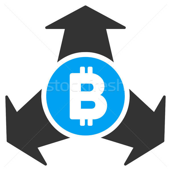 Bitcoin Spend Arrows Flat Icon Stock photo © ahasoft