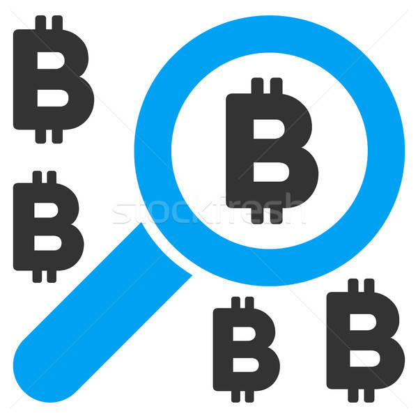 Trouver bitcoin icône vecteur demande web design Photo stock © ahasoft