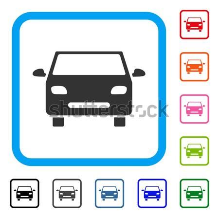 Stock photo: Car Map Marker Flat Icon
