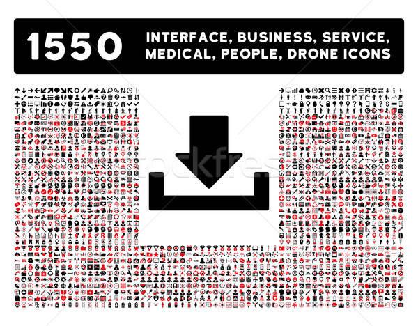 Icône de téléchargement plus interface affaires outils personnes Photo stock © ahasoft