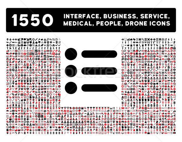 Icône plus interface affaires outils personnes Photo stock © ahasoft